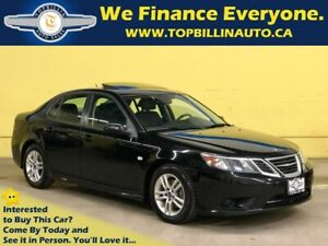 2011 Saab 9-3 Turbo4, 6 Speed Manual, Leather, Roof