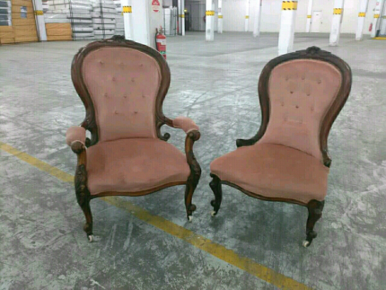 antique grandfather and grandmother chair