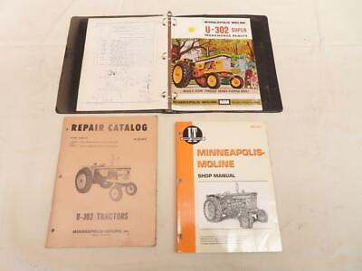 Vintage Minneapolis Moline U-302 Tractor Shop Repair Manual Add R2097 It Mm201