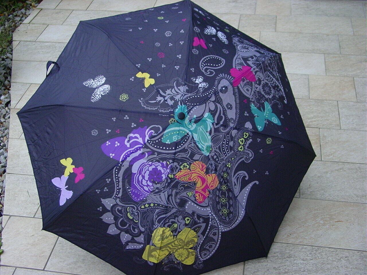 Parapluie neuf pliant à ramages esprit