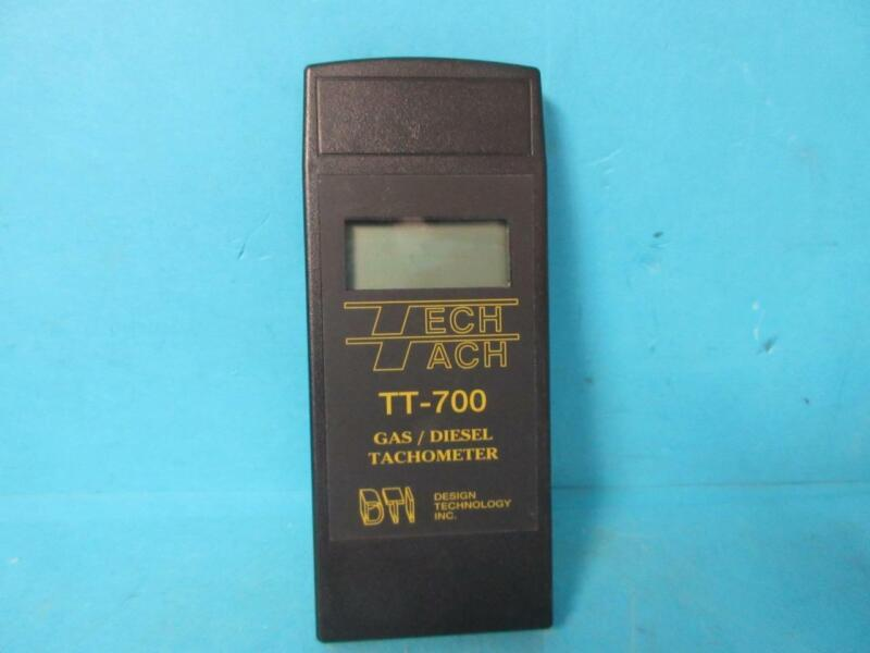 DESIGN TECHNOLOGY INC TECH TACH MODEL TT-700 GAS/DIESEL TACHOMETER W/ CASE EXTRA