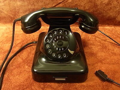 altes Telefon Bakelit W 48 DFG Telephone  Top!