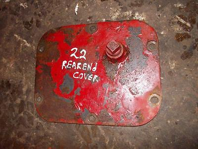 Massey Harris Mh 22 Tractor Rear End Cover Panel W Plug