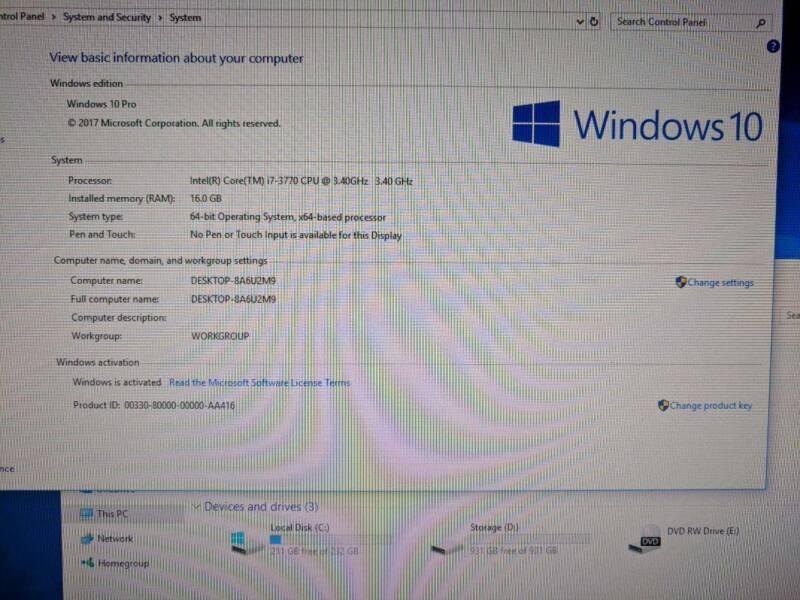 HP Z220 i7 3770 16GB RAM SSD Workstation | Desktops | Gumtree