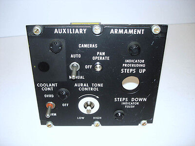 U.S. F-4 Phantom II Aux.Armament/ Steps Control Switch Panel, Cockpit