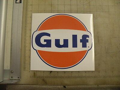 """Vintage Gulf Gasoline sticker 9""""x8.2"""""""