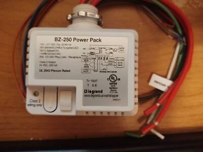 Wattstopper Bz-250 Lighting Plug Load Flex Control Power Pack 24vdc 120-277v
