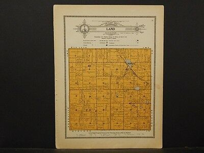 Minnesota, Grant County Map, 1914 Township of Land Y1#09