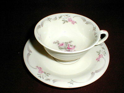Castleton China USA BELROSE Cup Saucer/s on Rummage