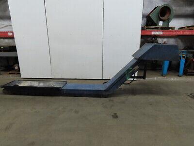 Mayfran Incline Cleated Chip Conveyor 12 Belt 38 Discharge 4.5fpm 230460v 3ph