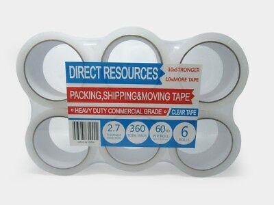 12 Rolls Packing Tape Clear 180 Ft Each Roll 2 Wide 2.7mil Heavy Duty Sealing