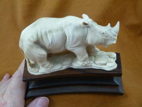 (rhino-14) large Rhinoceros Rhino of shed ANTLER figurine Bali detailed carving