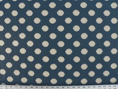 Drapery Upholstery Fabric Indoor/Outdoor Ikat Polka Dot Matelassé - Dark Blue  ()