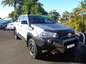 2019 Toyota Hilux GUN126R Rugged X Double Cab Silver 6 Speed Manual Utility West Ballina Ballina Area Preview