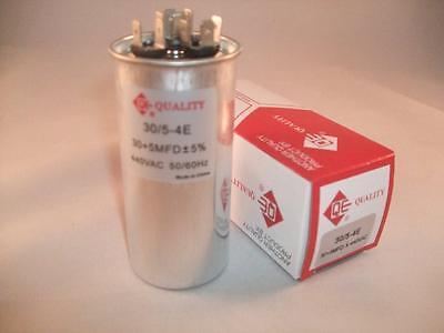 305 Mfd 370-440vac Dual Electric Mtr Run Oil Filled Capacitor Uf Hvac Volts Cap