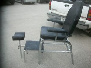 Hair salon items;mannequin heads,shelving,styling chairs,mirrors