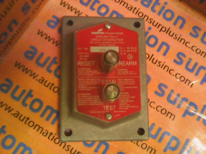COOPER CROUSE-HINDS GFS1 M4 GROUND FAULT CIRCUIT INTERRUPTER NEW!!
