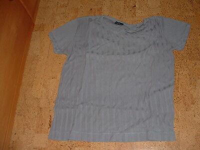 Grau Gestreift Kurz (Tom Tailor  Kurzarmshirt, T-Shirt, grau gestreift, V-Ausschnitt, Gr. L)