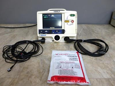 Physio-control Lifepak 20 Biphasic 3 Lead Ecg Pacing Analyze Therapy Cable Pads
