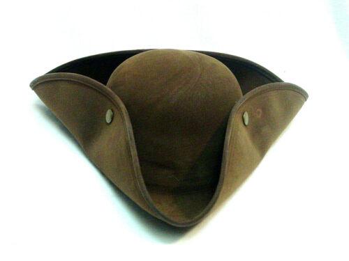 Tricorn Pirate Outlander Revolutionary War Poldark Colonial BROWN faux suede hat