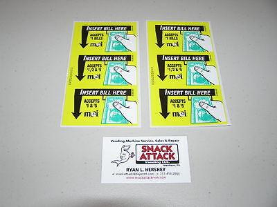 2 Mars Mei Bill Validator 3 Vn2000 Series Decal Stickers 1 2 5