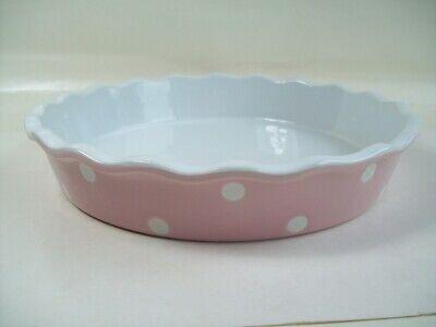 Pie Dish Spot Pink Bräter Form Auflaufform Isabelle Rose Home Design Punkte 26 Pie Dish