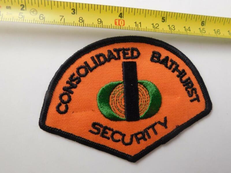 CONSOLIDATED BATHURST  PLANT SECURITY OFFICER VINTAGE PATCH BADGE UNIFORM POLICE