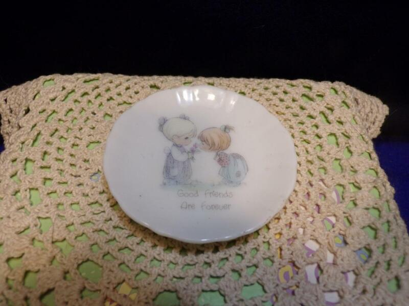Vintage Mini plate- porcelain- PRECIOUS MOMENTS-GOOD FRIENDS ARE FOREVER