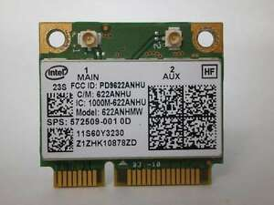 INTEL CENTRINO ADVANCED-N 6200 MODEL 622ANHMW WIRELESS HALF MINI PCI-E
