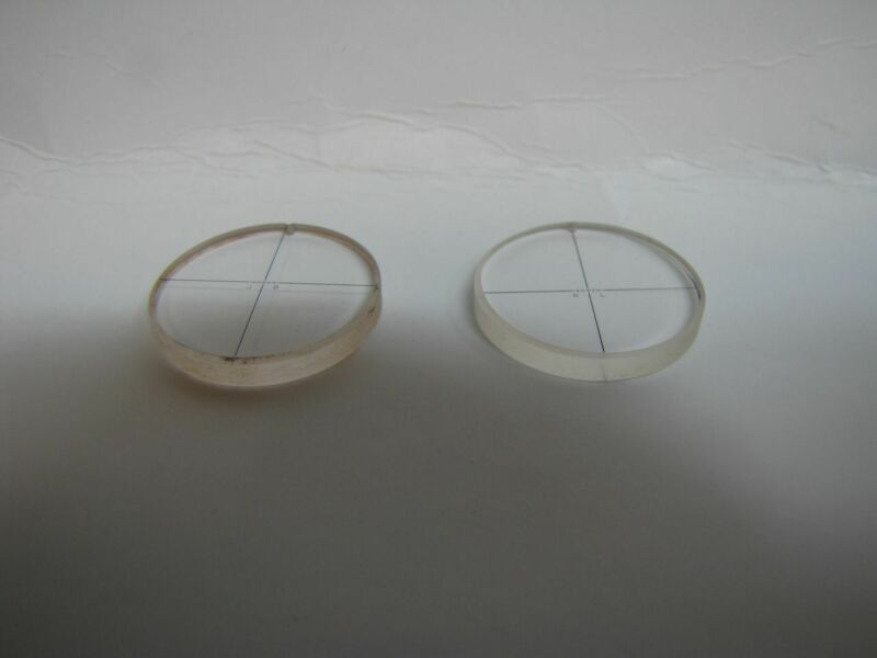 2 Edmund Glass Etched Reticles Eyepiece - Telescope Crosshair 21.5x3mm Set of 2