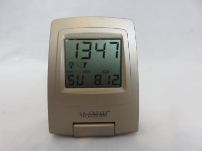 La Crosse Technology Radio Controlled Travel Alarm Clock Digital Bronze