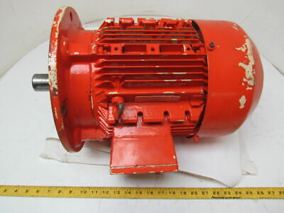 Siemens 6.3kw 1145rpm 480v Tefc Electric Motor 3ph 8.45hp 132m Frame B5 Flange