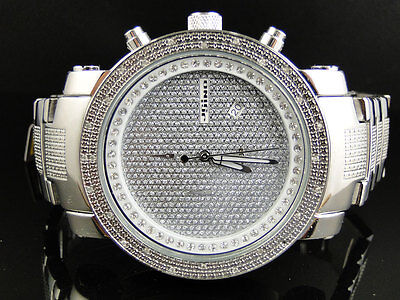 Brand New Mens Jojino Joe Rodeo Aqua Master Metal Band 25 Diamond Watch Mj 1105