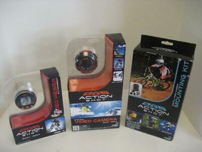 NEW Action Shot 3 items: Digital Video Still Camera, Mounting Kit, Viewer NIB