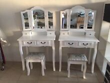 Luxury Dressing Table & Stool Mirrors Jewellery Cabinet 4 Drawers Forest Hill Whitehorse Area Preview