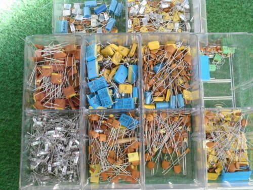 50 KONDENSATOREN MIX 350pf bis 1,5nF KERAMIK+STYROFLEX+WIMA+METALLSCH. 23218-33