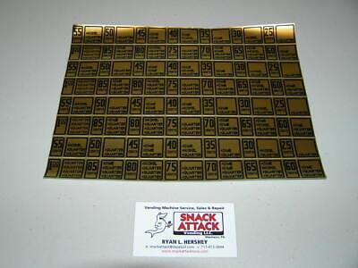 Antares Vending Machine Edina Coin Mech Gold Pricing Stickers Free Ship