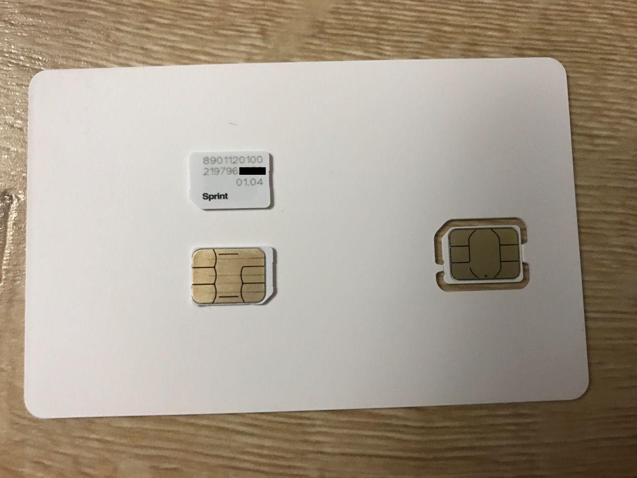 TELLO Sprint Boost Virgin Mobile Nano Sim Card Part SIMGLW43