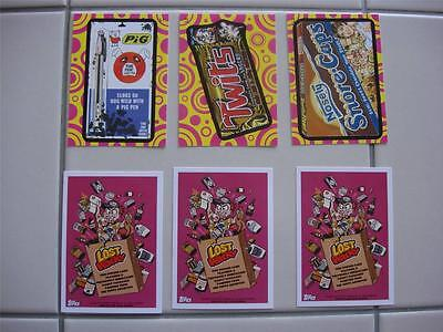 2014 WACKY PACKAGES SERIES 1 (ANS 12) COMPLETE SET THREE LOST WACKY BONUS CARDS