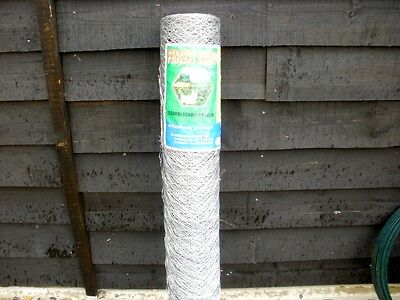 1.2m (4ft) tall x 50m roll of chicken rabbit dog galvanised wire netting mesh