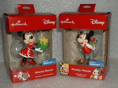 Hallmark Disney Mickey and Minnie w/Gift Walmart Exclusive Christmas red box SET