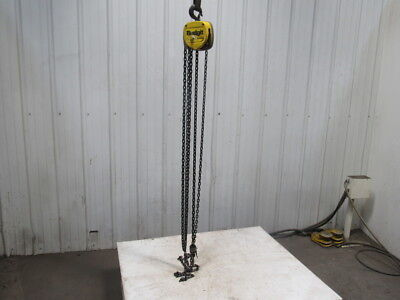 Budgit 12 Ton 1000lb Manual Chain Fall Hoist 12 5 Lift Load Tested