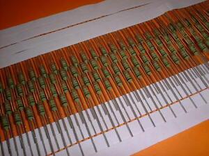 50x Metalloxid (MOX) Power-Widerstand 0,22 Ohm / 1 Watt