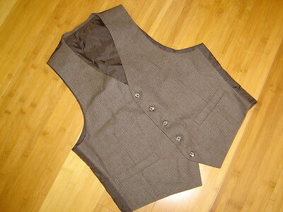 Sherlock. Holmes steampunk suit vest pinstripe brown  wool 40 C  M (Steampunk Suit)
