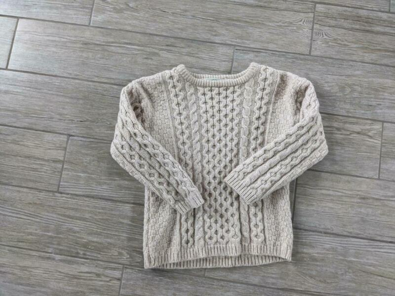 vintage ARAN CRAFTS kids IRISH wool sweater 8-11yrs chunky knit IRELAND