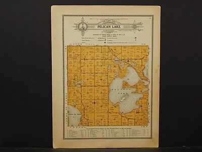 Minnesota, Grant County Map, 1914 Township of Pelican Lake Y1#16