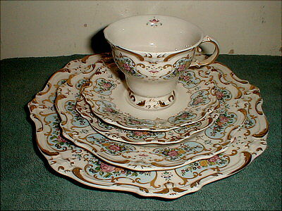 Gorham Chateau Chantilly China (5) piece table setting NEVER USED, MINT