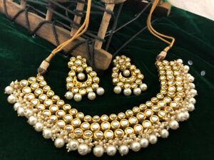 Indian ladies event jewellery earring choker necklace bridal