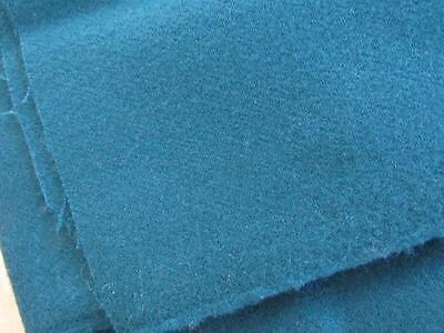 """Vintage Lightweight Rich TEAL Wool Blend Fabric 42""""x1-2/3yds"""