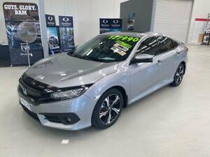2016 Honda Civic 10th Gen MY16 RS Silver 1 Speed Constant Variable Sedan Taminda Tamworth City Preview